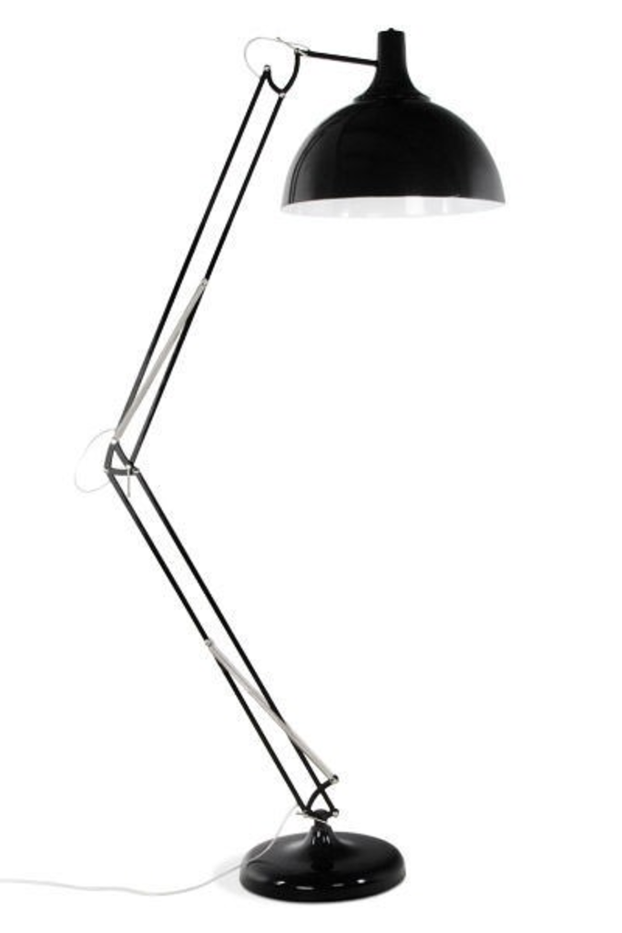 Davidi design bondy living foga vloerlamp zwart van bondy for Verlichting duiven outlet