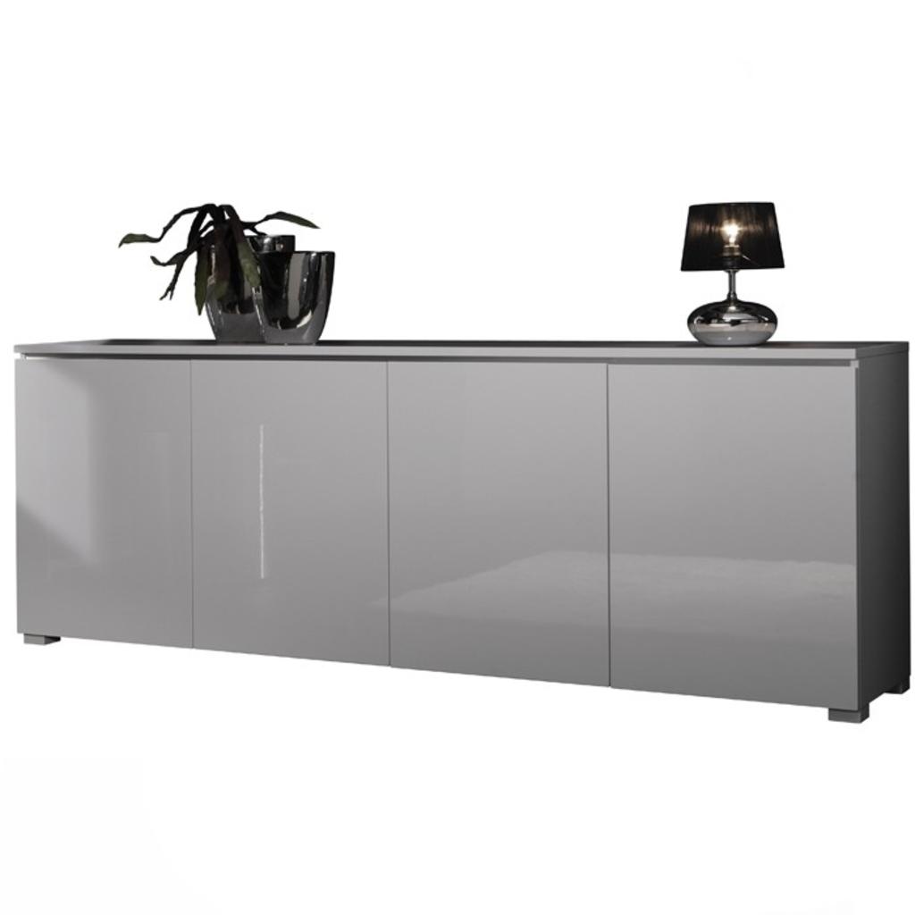 ... Dressoir Hoogglans Wit 240cm van Davidi Design Dressoirs, Meubilair