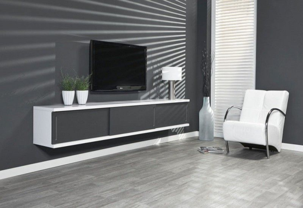 Behang Woonkamer Grijs: Modern behangpapier woonkamer behang wit ...