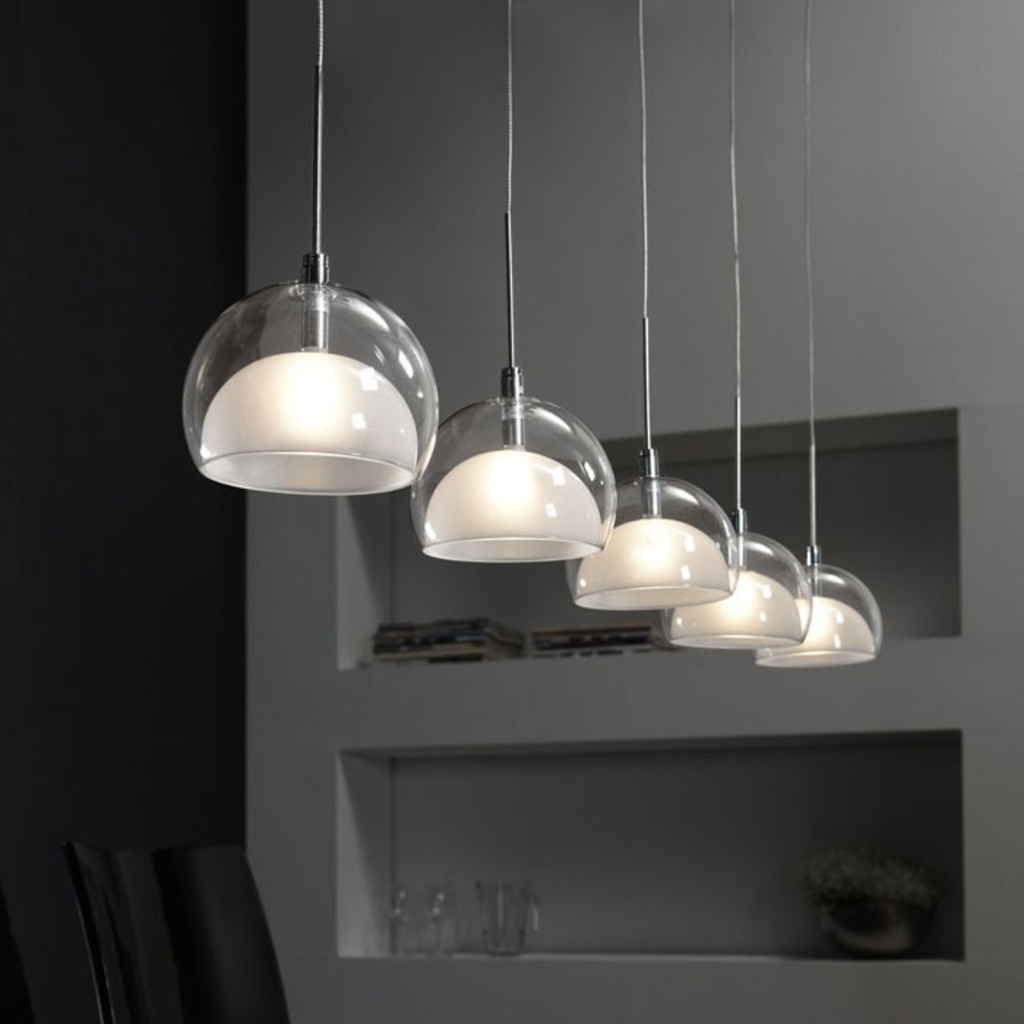 Hanglampen modern: moderne hanglamp led eettafel staal glas straluma.