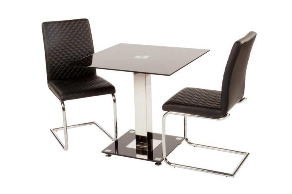 ... Wit : Davidi Design Ice-Black Vierkant Eettafel Van Trendymeubels