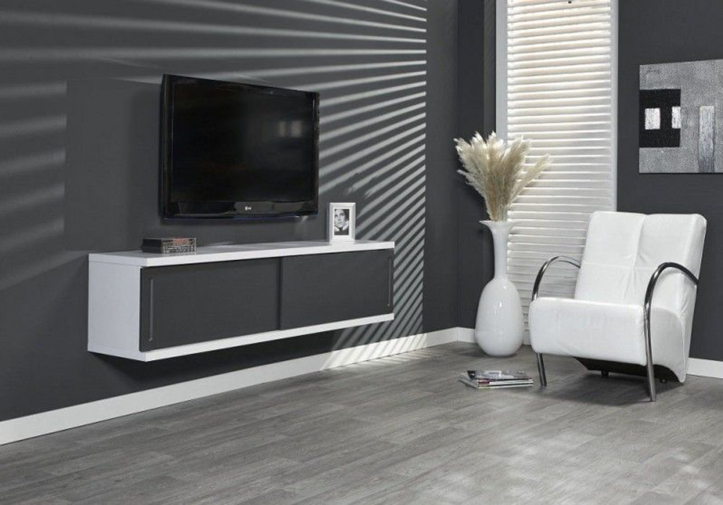 Tv Wandmeubel Wit.Davidi Design Justus Tv Wandmeubel Wit Grijs
