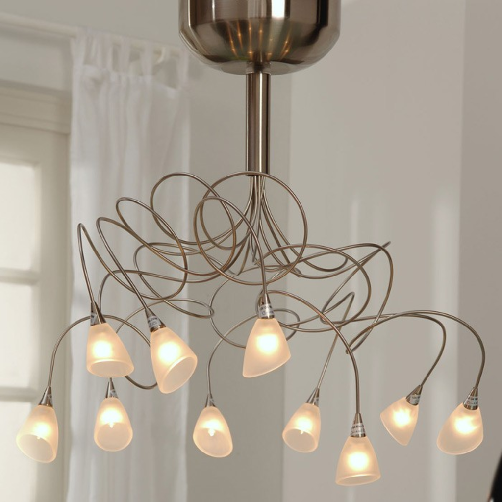 Davidi design davidi design plafondlamp 10 lamps curls for Design plafondlamp