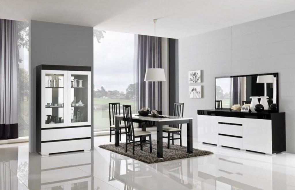 davidi design: davidi design zenos dressoir met spiegel hg zwart, Deco ideeën