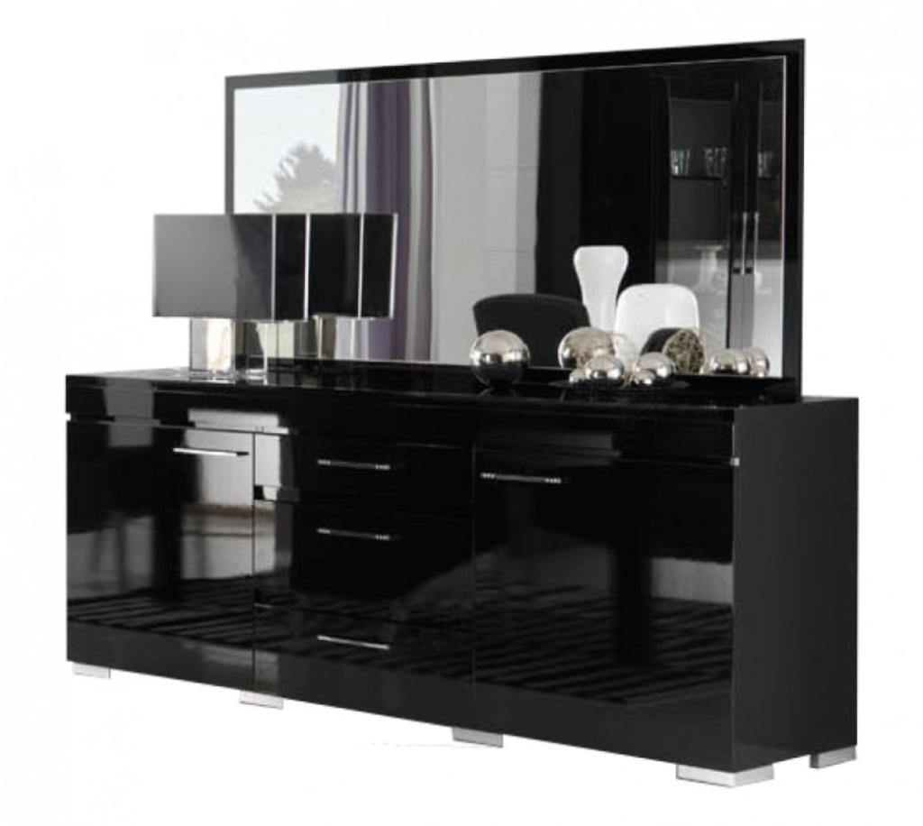 Davidi design dressoir gilda met spiegel hg zwart van davidi design misc - Dressoir met spiegel ...