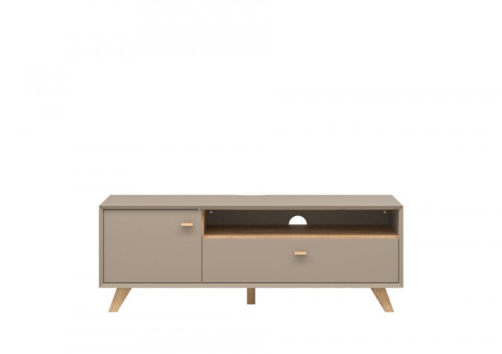 Davidi design germania calvi tv meubel medium grijs hoge poten van germania tv kast - Meubilair van binnenkomst grijs ...