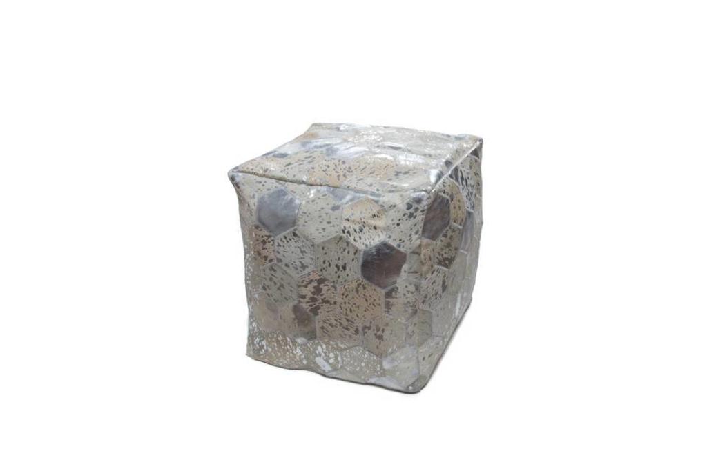 Davidi design kayoom spark poef grijs zilver 200 van kayoom woonkamer meubilair - Meubilair van binnenkomst grijs ...