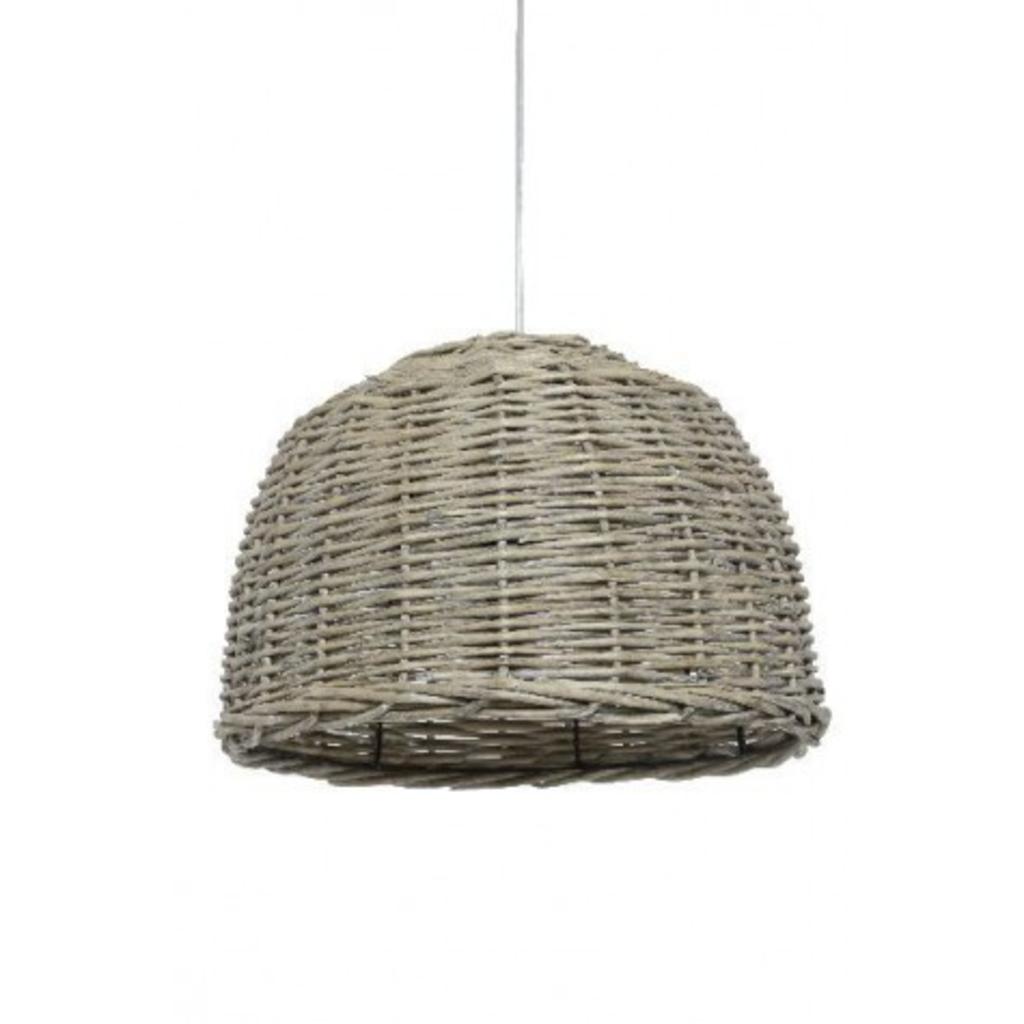 Davidi design davidi design rotan hanglamp grijs small van livlight woonkamer meubilair - Meubilair van binnenkomst grijs ...
