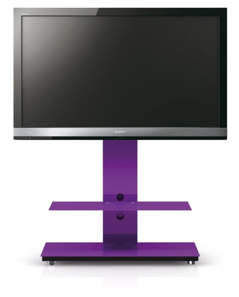 Davidi design spectral tray tv meubel paars van spectral tv standaard - Meubilair tv industrie ...