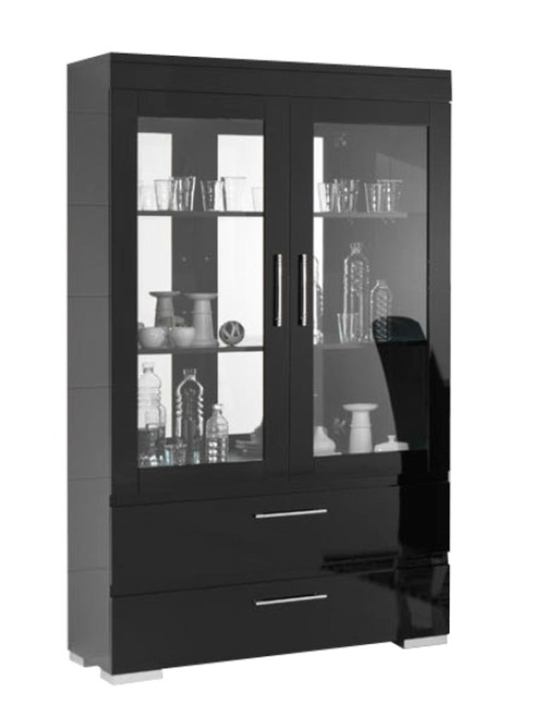 DaViDi Design: Vitrinekast Gilda Grande + Led Verlichting Hg Zwart ...